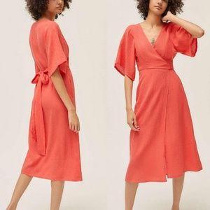 NWT U O Kayla Surplice Wrap Midi Dress